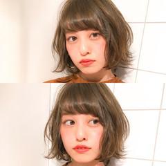 小顔 冬 フェミニン こなれ感 ヘアスタイルや髪型の写真・画像