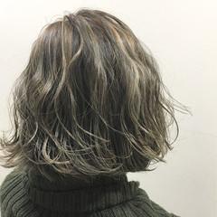 こなれ感 ストリート ハイライト アッシュ ヘアスタイルや髪型の写真・画像