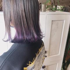 ヘアカラー ダブルカラー インナーカラー 透明感カラー ヘアスタイルや髪型の写真・画像