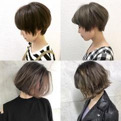 ハイライト 外国人風 ボブ ショート ヘアスタイルや髪型の写真・画像