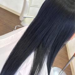 ロング ストリート アッシュ ダブルカラー ヘアスタイルや髪型の写真・画像