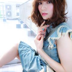 色気 フェミニン 大人かわいい 夏 ヘアスタイルや髪型の写真・画像