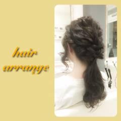 ヘアアレンジ ゆるふわ ねじり 編み込み ヘアスタイルや髪型の写真・画像