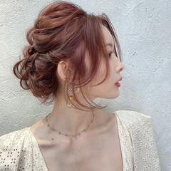ヘアアレンジ 結婚式 エレガント 結婚式アレンジ ヘアスタイルや髪型の写真・画像