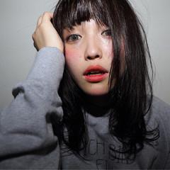 ピュア セミロング ストレート 黒髪 ヘアスタイルや髪型の写真・画像