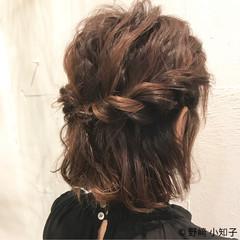 結婚式 デート フェミニン 簡単ヘアアレンジ ヘアスタイルや髪型の写真・画像