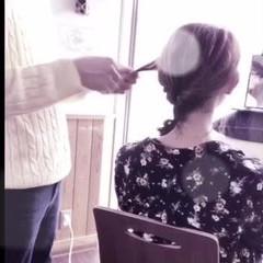 フェミニン 簡単ヘアアレンジ 結婚式 こなれ感 ヘアスタイルや髪型の写真・画像