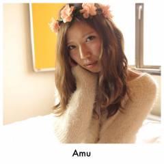 ガーリー フェミニン おフェロ ゆるふわ ヘアスタイルや髪型の写真・画像
