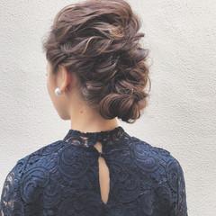 フェミニン 結婚式 ロング パーティ ヘアスタイルや髪型の写真・画像