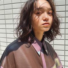 ストリート ミディアム デジタルパーマ 無造作パーマ ヘアスタイルや髪型の写真・画像