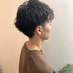 メンズショート ショート スパイラルパーマ メンズパーマ ヘアスタイルや髪型の写真・画像