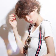 小顔ショート ベリーショート マッシュショート ショートマッシュ ヘアスタイルや髪型の写真・画像