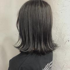 外国人風 ミディアム バレイヤージュ ナチュラル ヘアスタイルや髪型の写真・画像