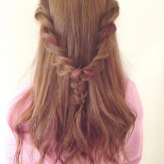 ロープ編み ヘアアレンジ ロング ショート ヘアスタイルや髪型の写真・画像