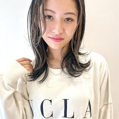 インナーカラー ナチュラル バレイヤージュ 髪質改善カラー ヘアスタイルや髪型の写真・画像