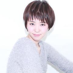 前髪あり 外国人風 モード ショート ヘアスタイルや髪型の写真・画像