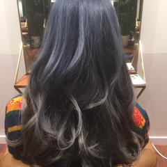 外国人風 大人かわいい ブルージュ グラデーションカラー ヘアスタイルや髪型の写真・画像