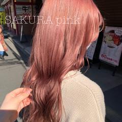 髪質改善トリートメント ピンクベージュ フェミニン ロング ヘアスタイルや髪型の写真・画像