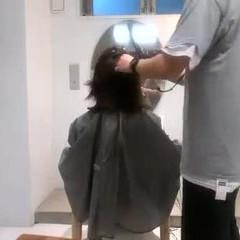 切りっぱなしボブ ミニボブ インナーカラー ナチュラル ヘアスタイルや髪型の写真・画像