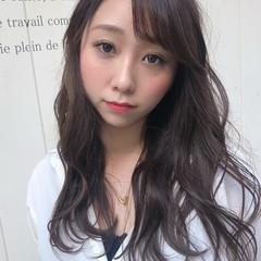 透け感ヘア 透け感 ロング 色濃く透ける ヘアスタイルや髪型の写真・画像