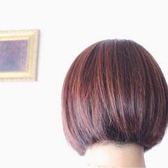 モーブ 色気 ブリーチ ピンク ヘアスタイルや髪型の写真・画像