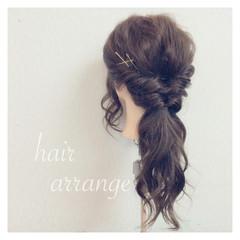簡単ヘアアレンジ ロング ヘアアレンジ 二次会 ヘアスタイルや髪型の写真・画像
