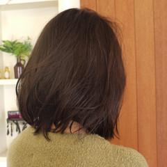 似合わせ 福岡市 ミディアム ボブ ヘアスタイルや髪型の写真・画像