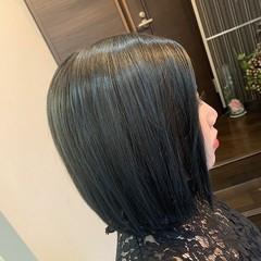 ブルー ネイビーブルー モード ショートボブ ヘアスタイルや髪型の写真・画像