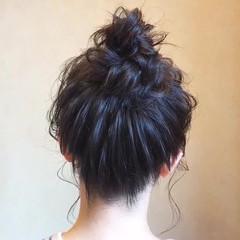 ヘアアレンジ ミディアム フェミニン デート ヘアスタイルや髪型の写真・画像