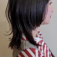 セミロング ウルフ女子 ストリート ウルフカット ヘアスタイルや髪型の写真・画像