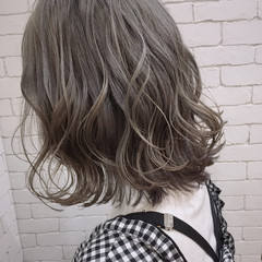フェミニン ボブ 透明感 ラフ ヘアスタイルや髪型の写真・画像