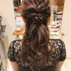 デート 結婚式 ハーフアップ エレガント ヘアスタイルや髪型の写真・画像