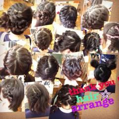 ヘアアレンジ 学校 ヘアスタイルや髪型の写真・画像