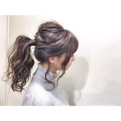 デート フェミニン ヘアアレンジ 前髪あり ヘアスタイルや髪型の写真・画像