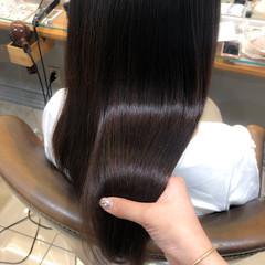 ロング うる艶カラー ナチュラル 髪質改善トリートメント ヘアスタイルや髪型の写真・画像