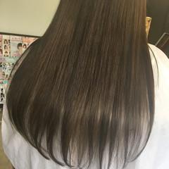 グラデーションカラー 外国人風 ブラウン ロング ヘアスタイルや髪型の写真・画像