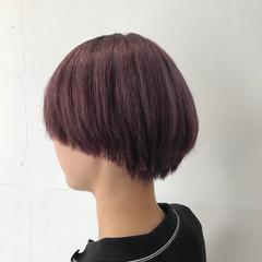 女子力 ガーリー ショート ハイトーン ヘアスタイルや髪型の写真・画像