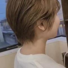 シースルーバング ナチュラル可愛い ショート ショートヘア ヘアスタイルや髪型の写真・画像
