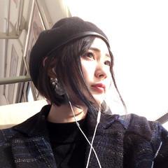 ショートボブ 黒髪 モード 色気 ヘアスタイルや髪型の写真・画像