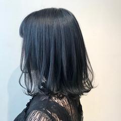 切りっぱなし 外ハネ ミディアム モード ヘアスタイルや髪型の写真・画像