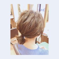 ふわふわ ボブ ヘアアレンジ 波ウェーブ ヘアスタイルや髪型の写真・画像