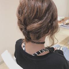 編み込み 大人女子 ショート 結婚式 ヘアスタイルや髪型の写真・画像