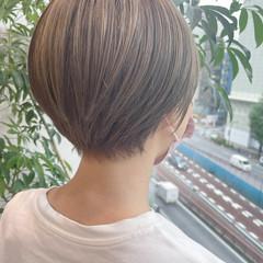 ショート 小顔ショート ダブルカラー ショートヘア ヘアスタイルや髪型の写真・画像