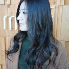 大人かわいい ロング ハイライト リラックス ヘアスタイルや髪型の写真・画像