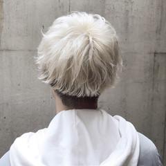 ストリート ホワイト ショート メンズ ヘアスタイルや髪型の写真・画像