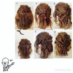 簡単ヘアアレンジ くるりんぱ ボブ ヘアアレンジ ヘアスタイルや髪型の写真・画像