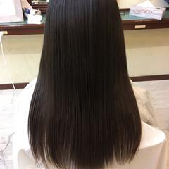 ロング 艶髪 上品 ストレート ヘアスタイルや髪型の写真・画像