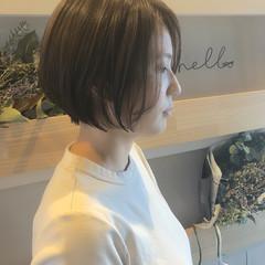 ナチュラル ショート ミニボブ ショートヘア ヘアスタイルや髪型の写真・画像
