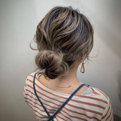ヘアアレンジ ふわふわヘアアレンジ ミディアム セルフヘアアレンジ ヘアスタイルや髪型の写真・画像