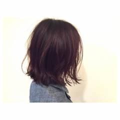 ボブ ストリート 外国人風 マルサラ ヘアスタイルや髪型の写真・画像